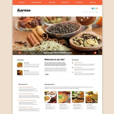 Indian Restaurant Templates | TemplateMonster