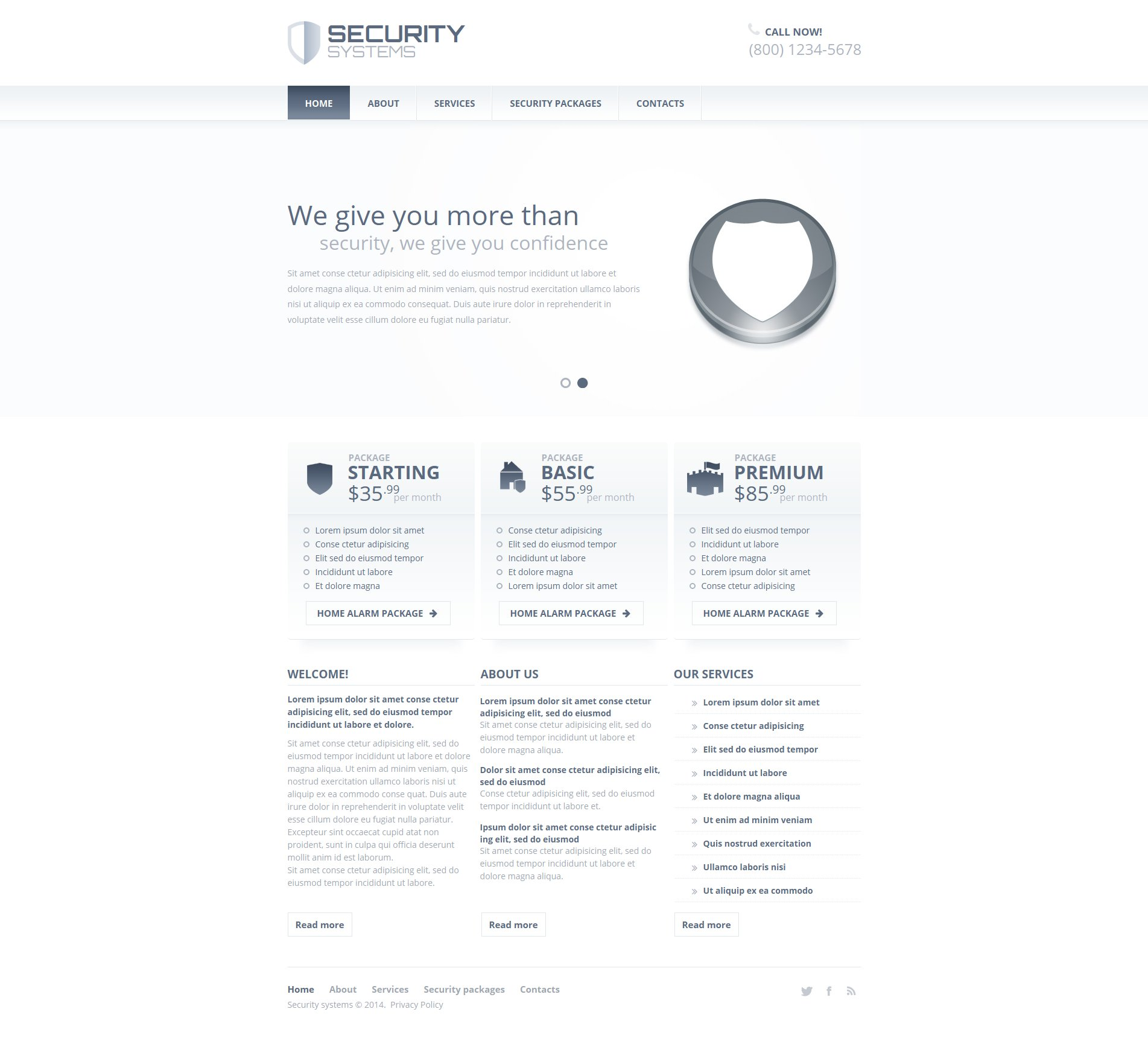 Information Security Moto CMS HTML Template
