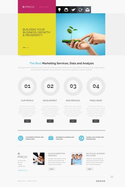 Адаптивный Joomla шаблон №47915 на тему маркетинговое агентство
