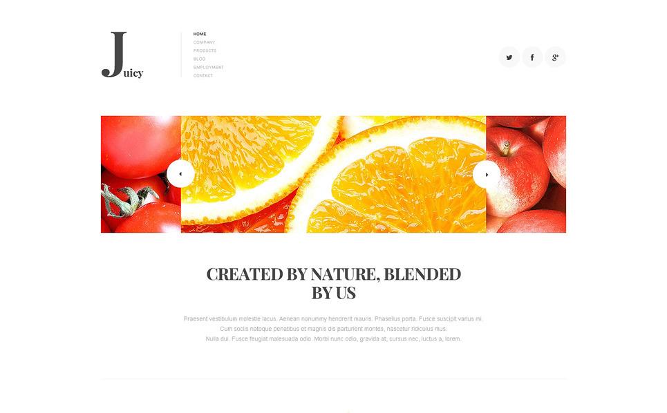 Joomla шаблон №47910 на тему напитки и еда New Screenshots BIG