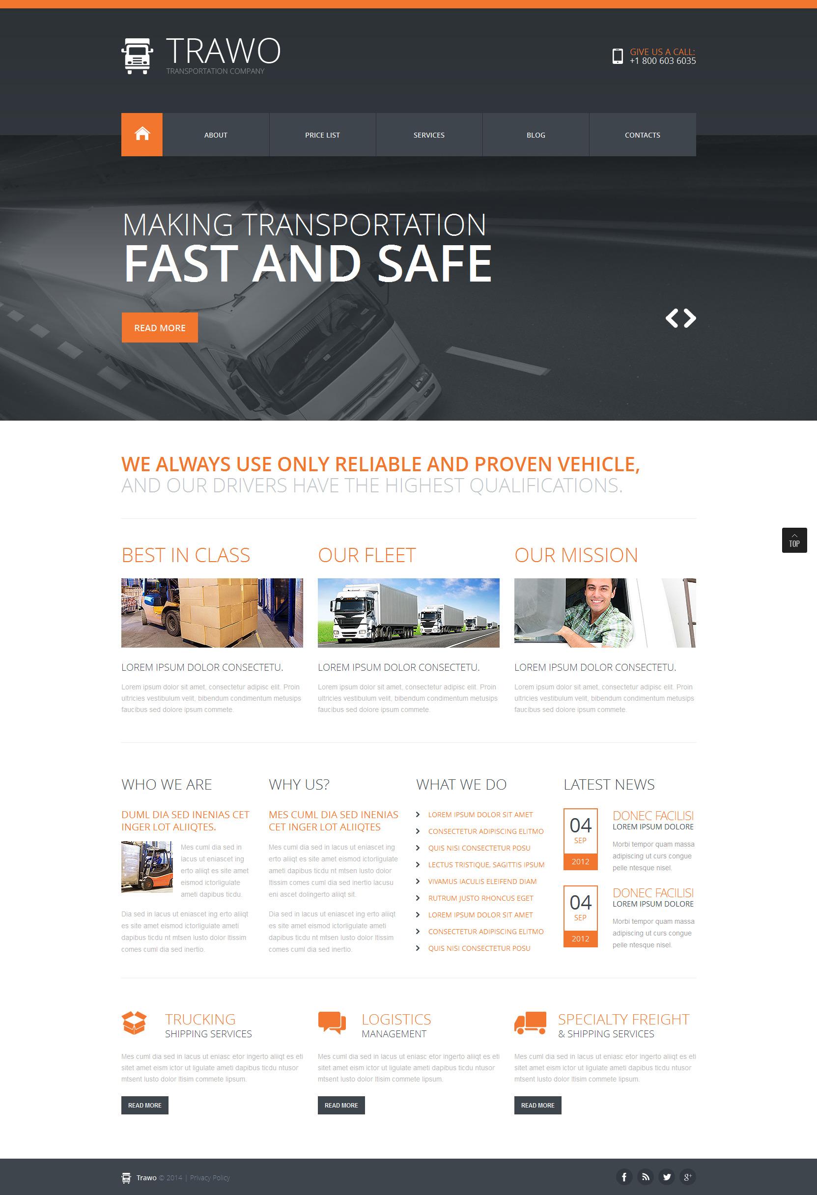 """Joomla Vorlage namens """"Das schnellste Transportmittel"""" #47914"""