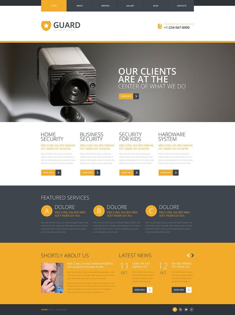Locksmith Responsive Joomla Template New Screenshots BIG