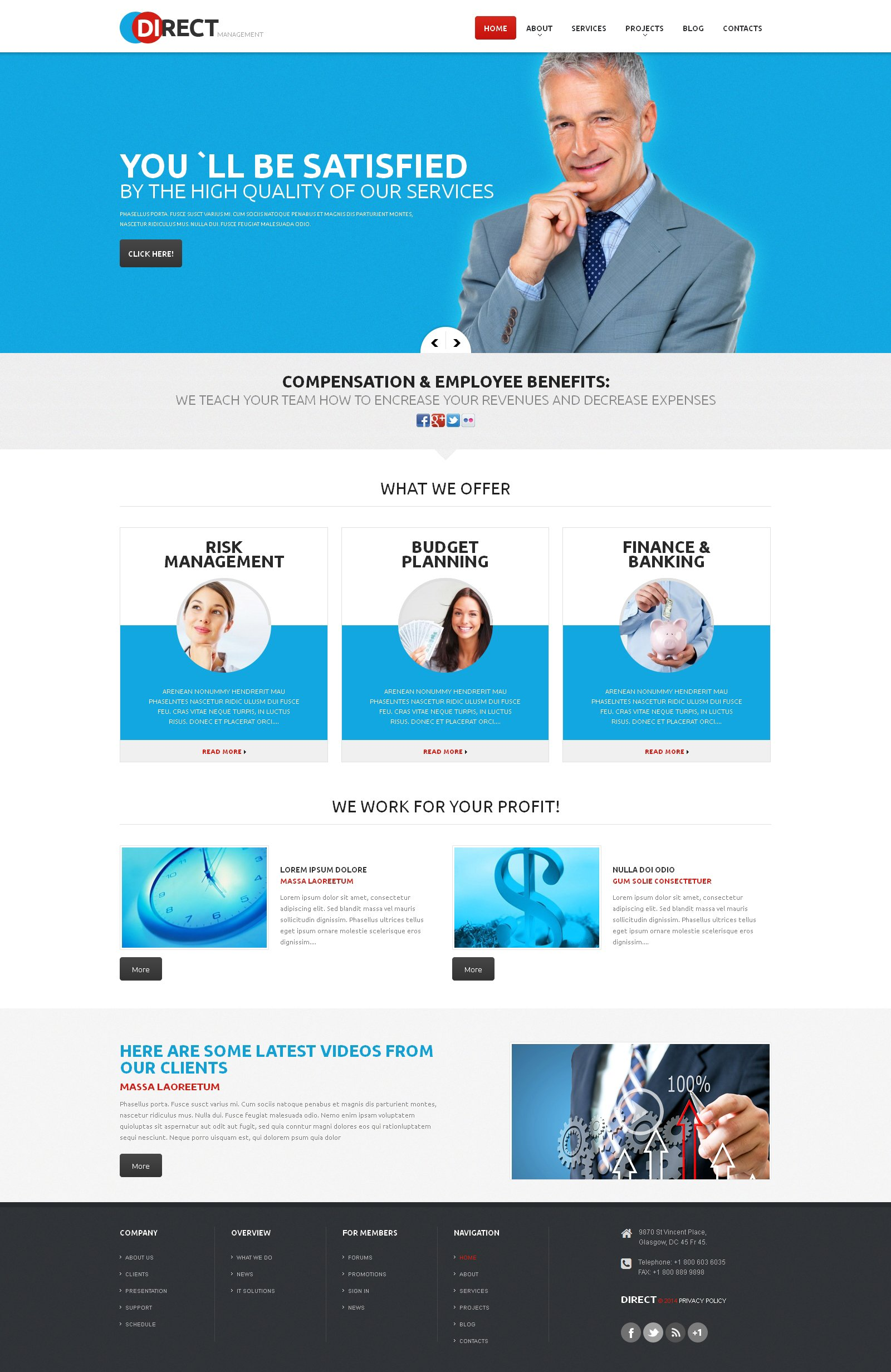 Management Company Responsive WordPress Theme #47927