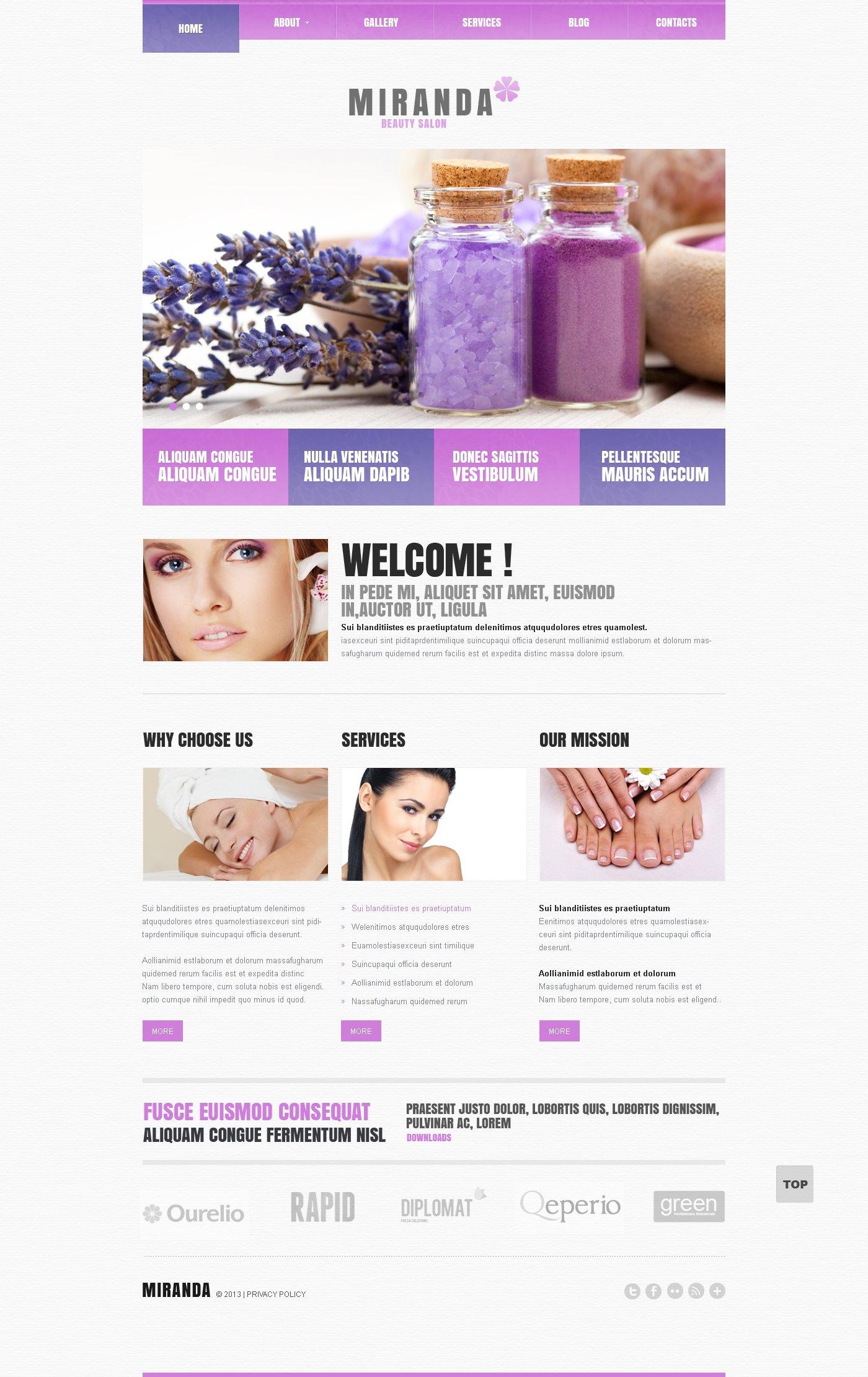 Modello WordPress Responsive #47993 per Un Sito di Salone di Bellezza - screenshot