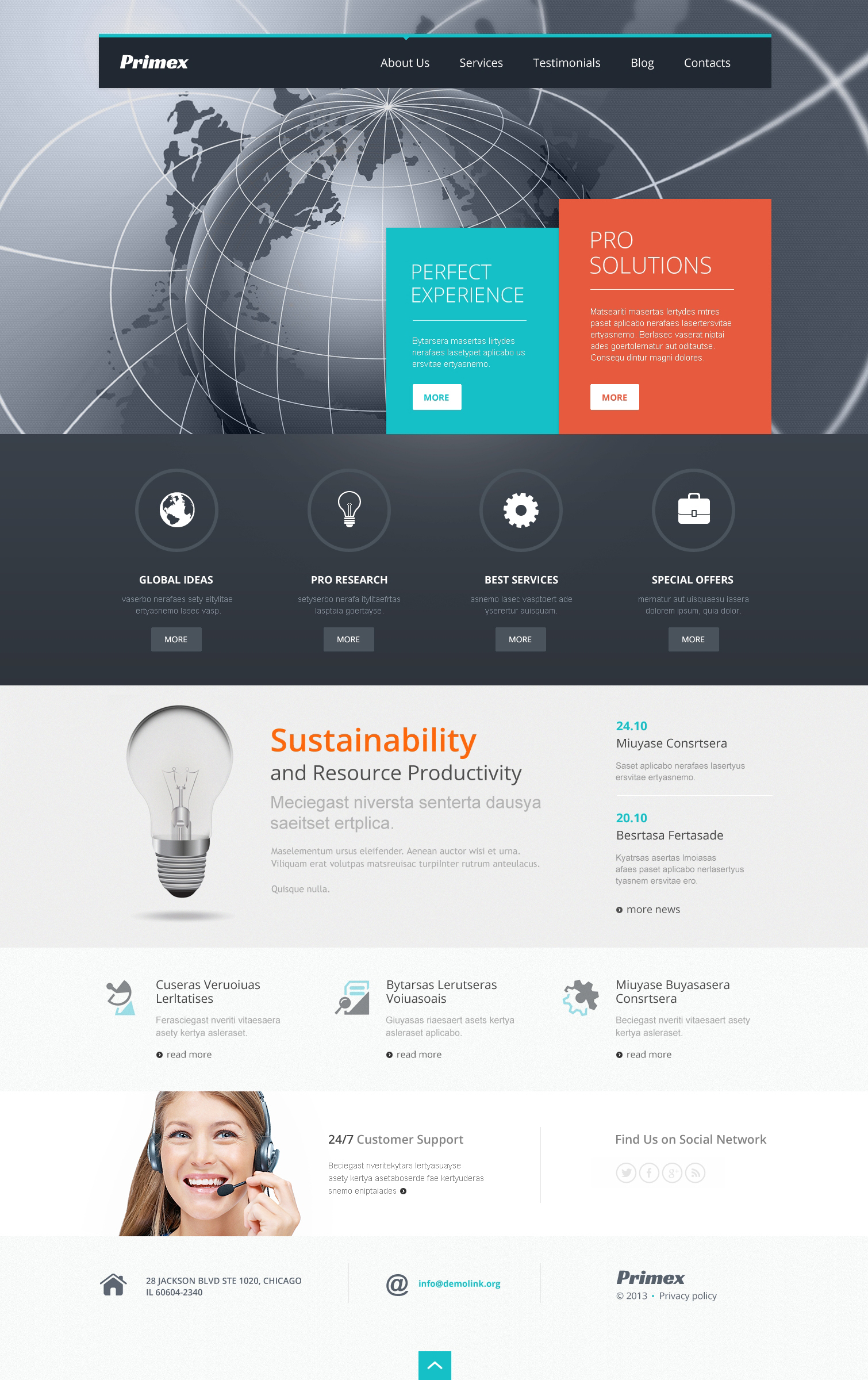 Outsourcing Company Responsive WordPress Theme - screenshot