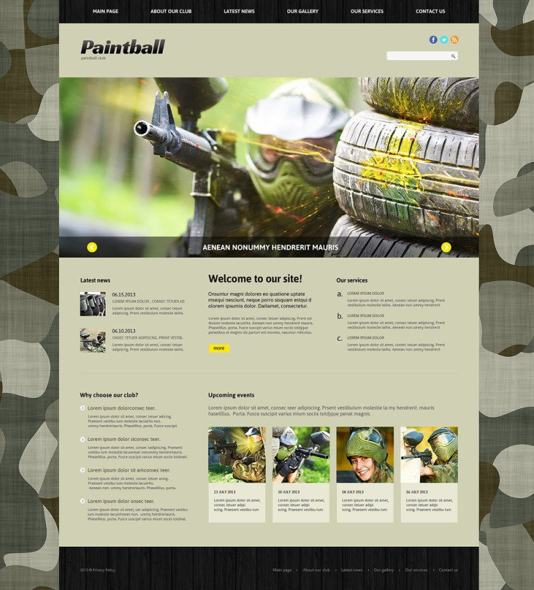 Paintball Responsive Joomla Template New Screenshots BIG
