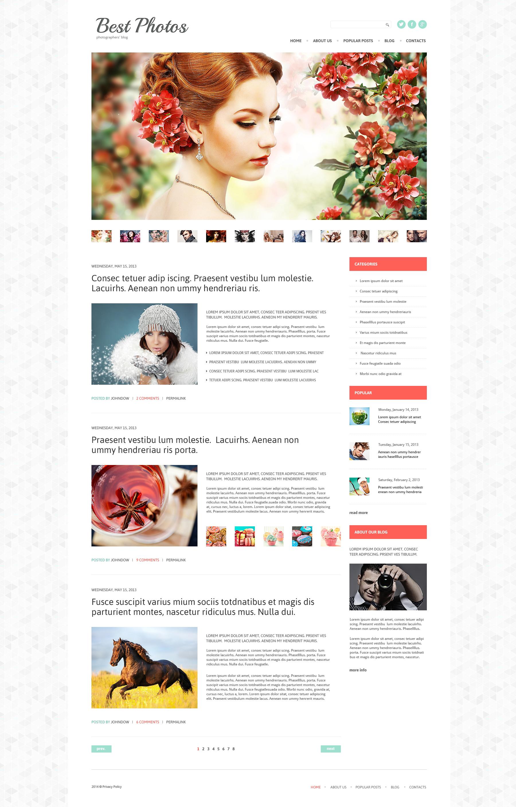Photo Video Blog WordPress Theme #47925