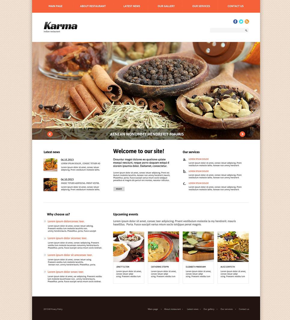 Plantilla Joomla #47954 para Sitio de Restaurantes indios