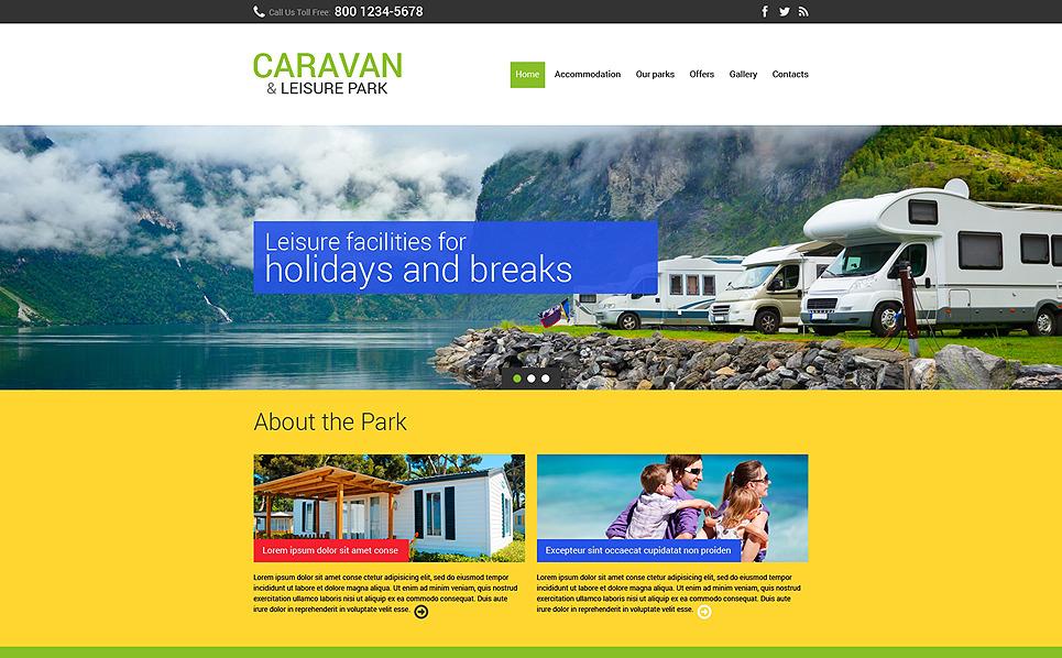 Plantilla Web Responsive para Sitio de Campamento de verano New Screenshots BIG