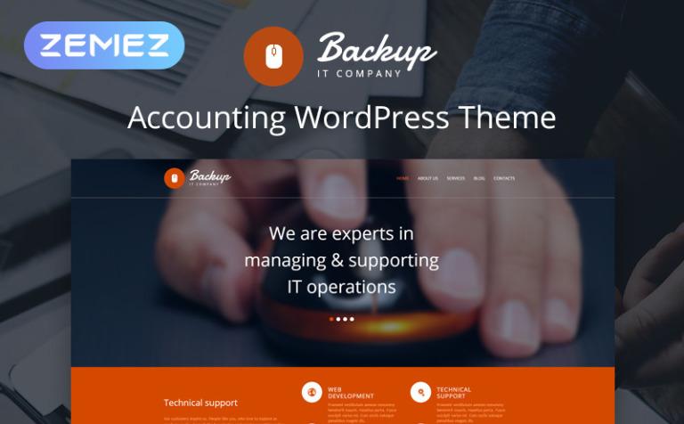 Tema de WordPress #47929 para Sitio de Tecnología de la información