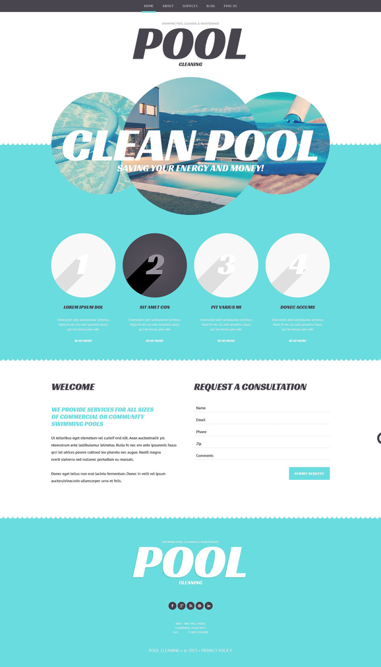 Pool Cleaning Business WordPress Theme New Screenshots BIG