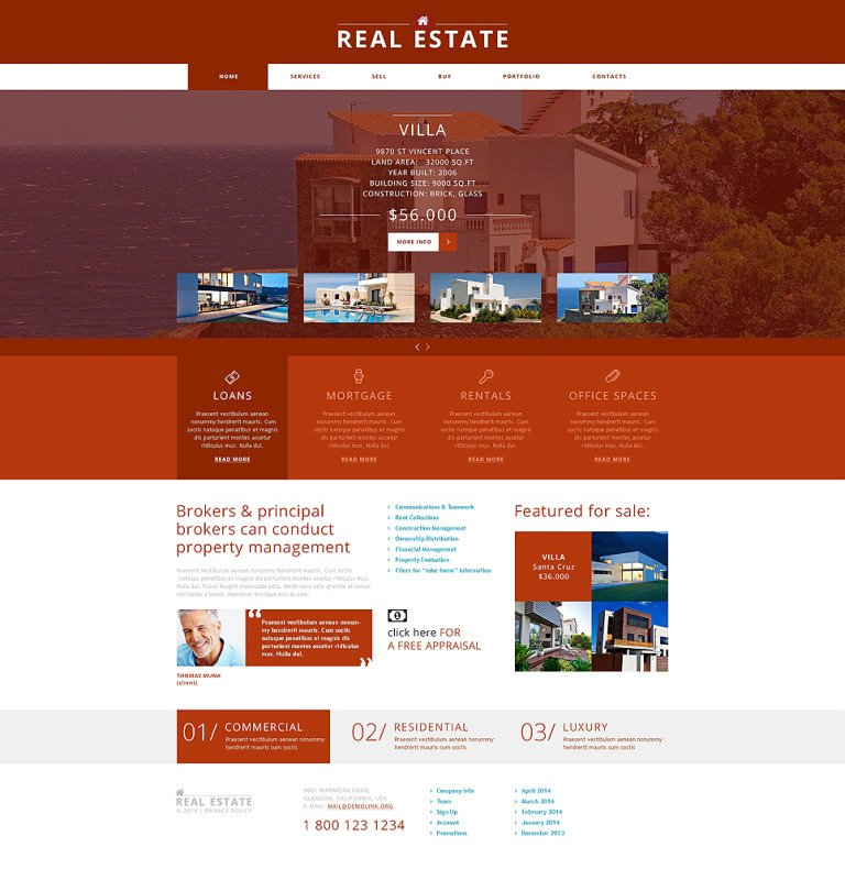 Real Estate Agency Joomla Template New Screenshots BIG