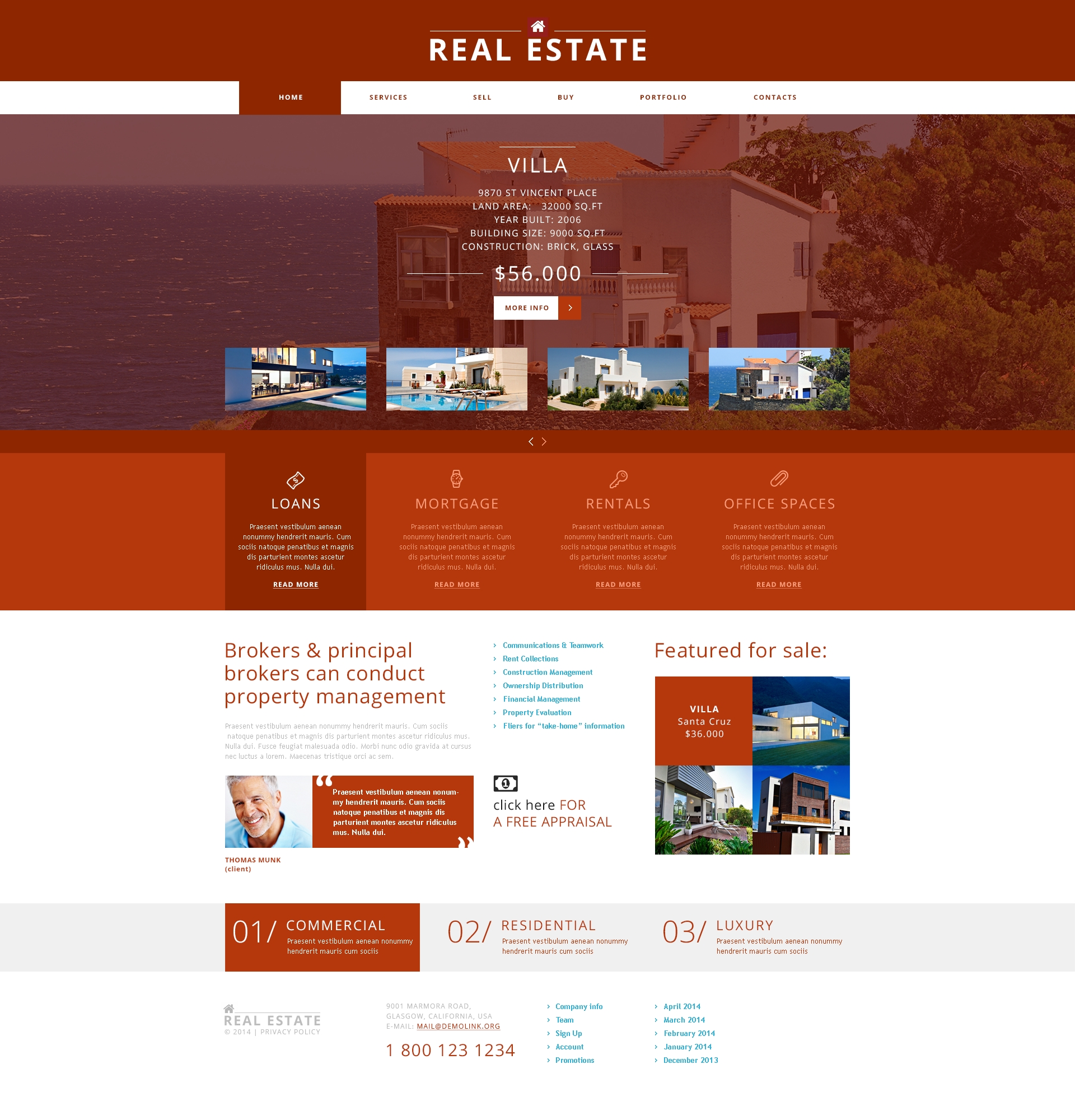 Real Estate Agency Joomla Template