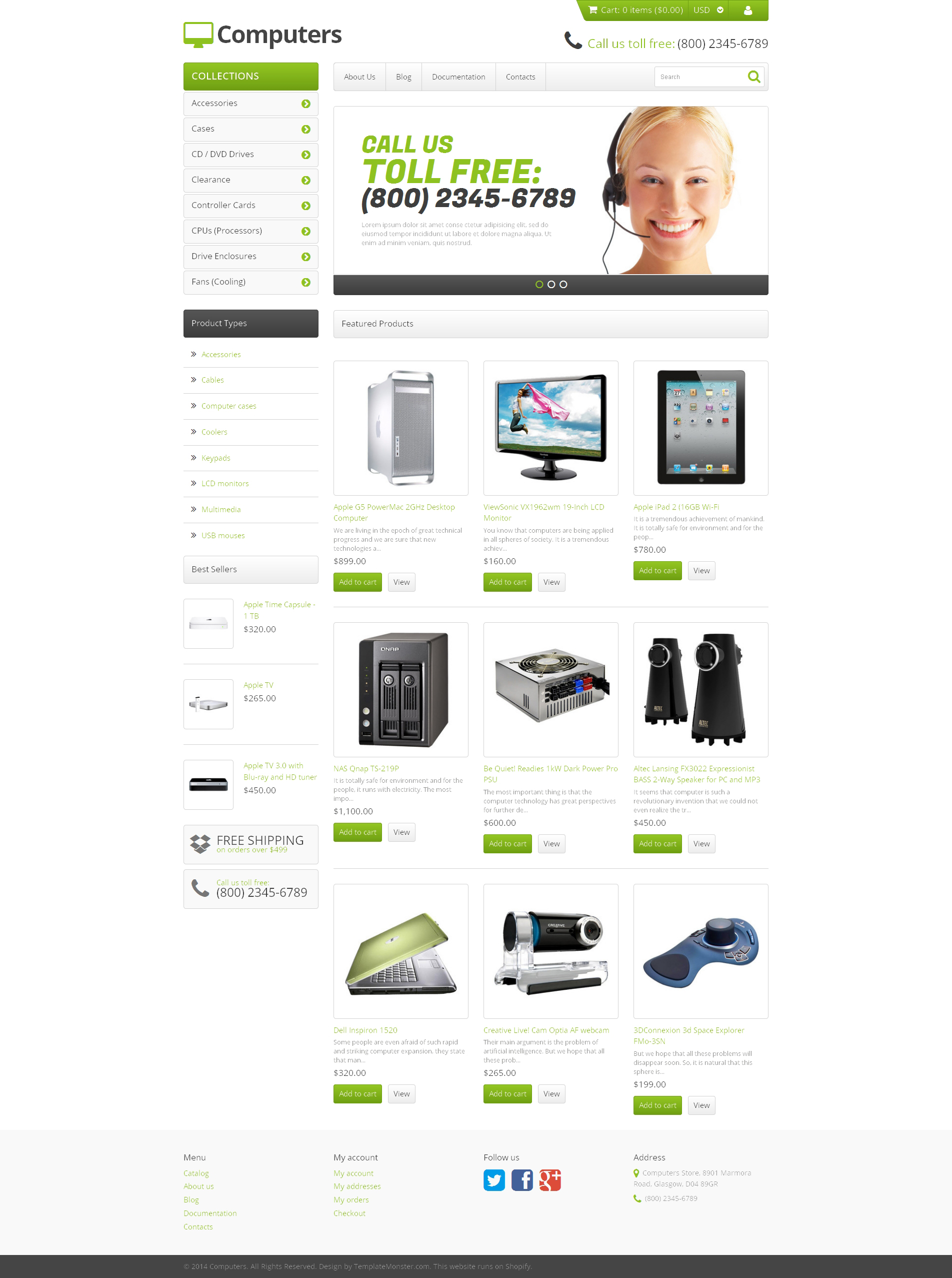 Responsive Bilgisayar Mağazası Shopify #47942