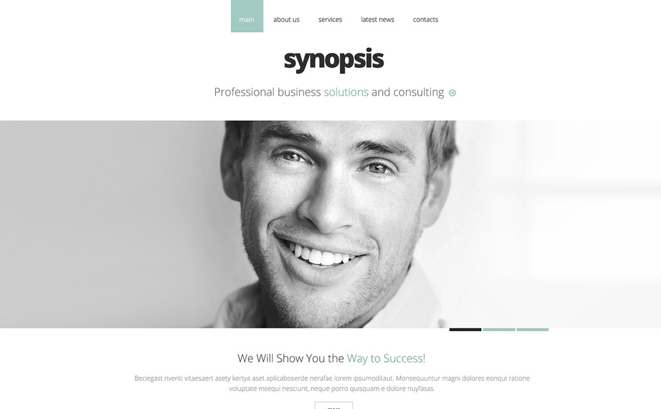 Responsive Website Vorlage für Führungsgesellschaft  New Screenshots BIG