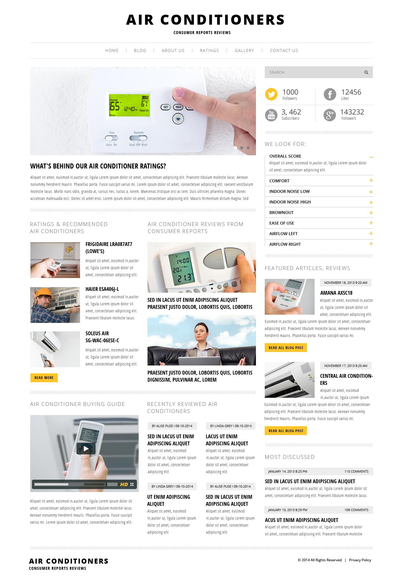 Responsivt Air Conditioning WordPress-tema #47995
