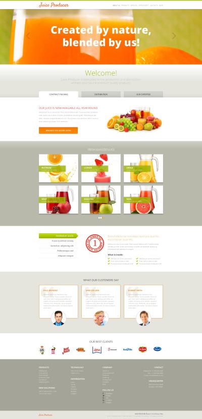 Responsywny motyw WordPress #47992 na temat: jedzenie i napoje