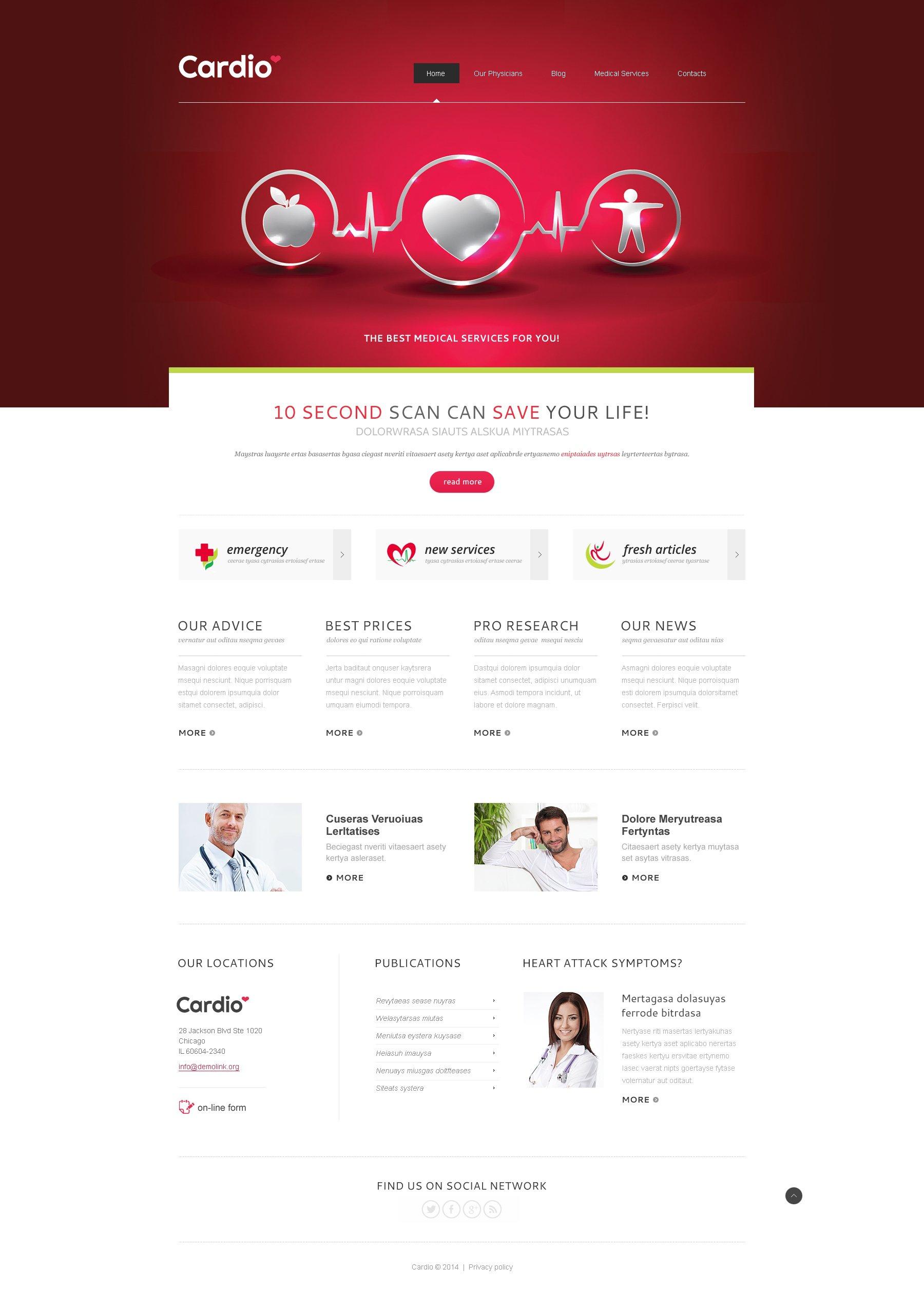 Responsywny szablon Joomla Medical Services #47947