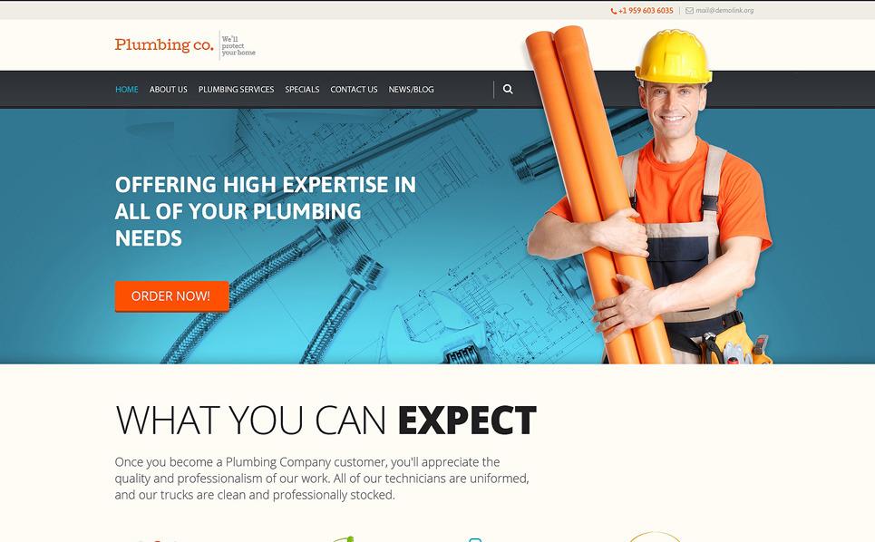 Responzivní WordPress motiv na téma Instalatérské práce New Screenshots BIG