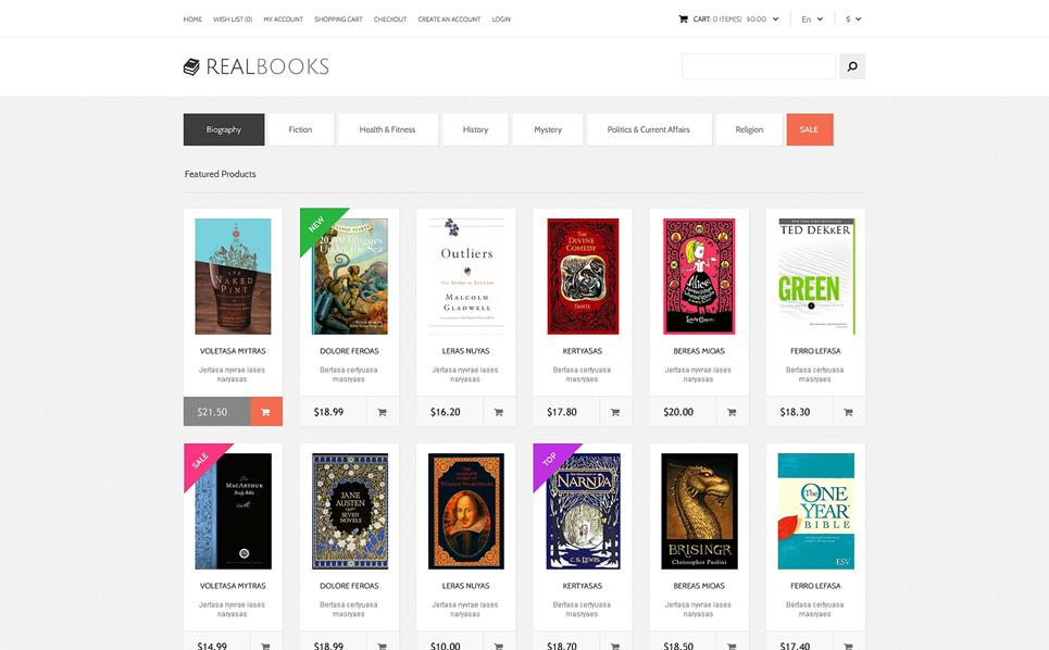 Reszponzív Könyv  OpenCart sablon New Screenshots BIG