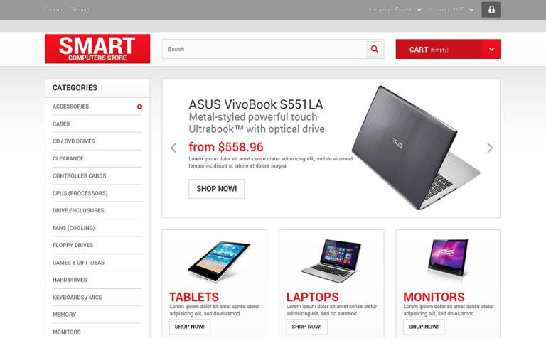 Smart Computers Store PrestaShop Theme