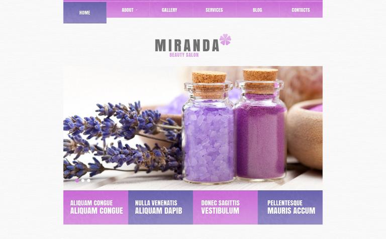 Tema de WordPress #47993 para Sitio de Salones de belleza