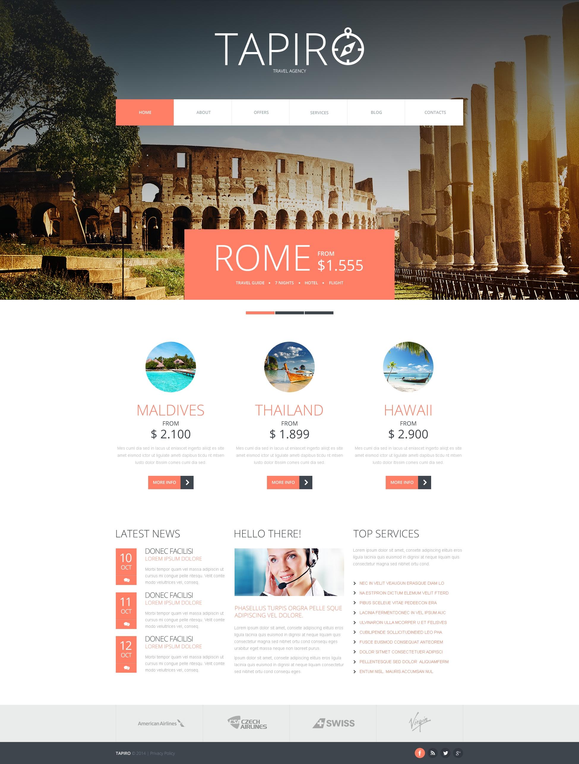 """Tema Joomla Responsive #47949 """"Travel Website"""""""