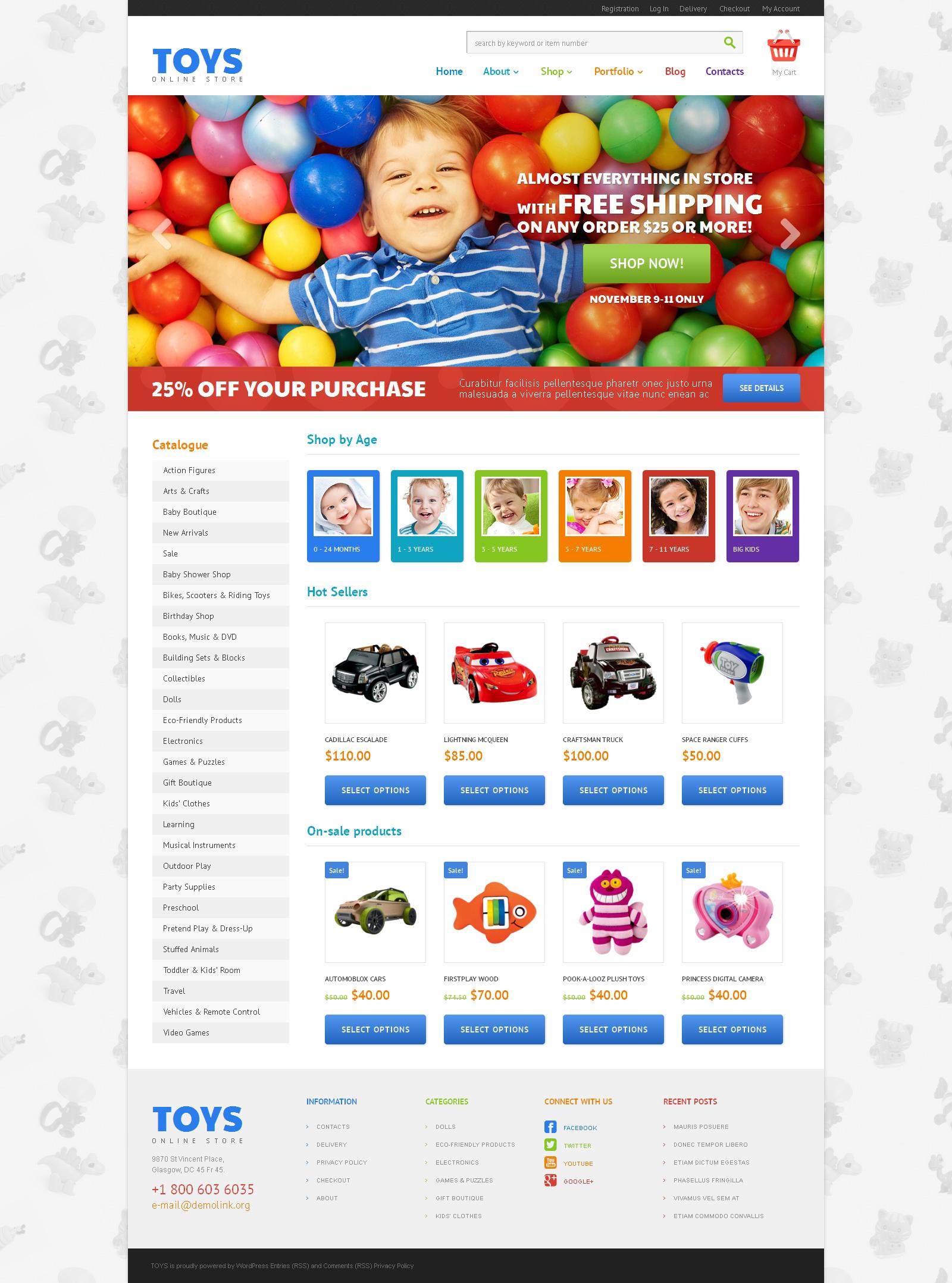 Tema WooCommerce Responsive para Sitio de Tienda de Juguetes #47989