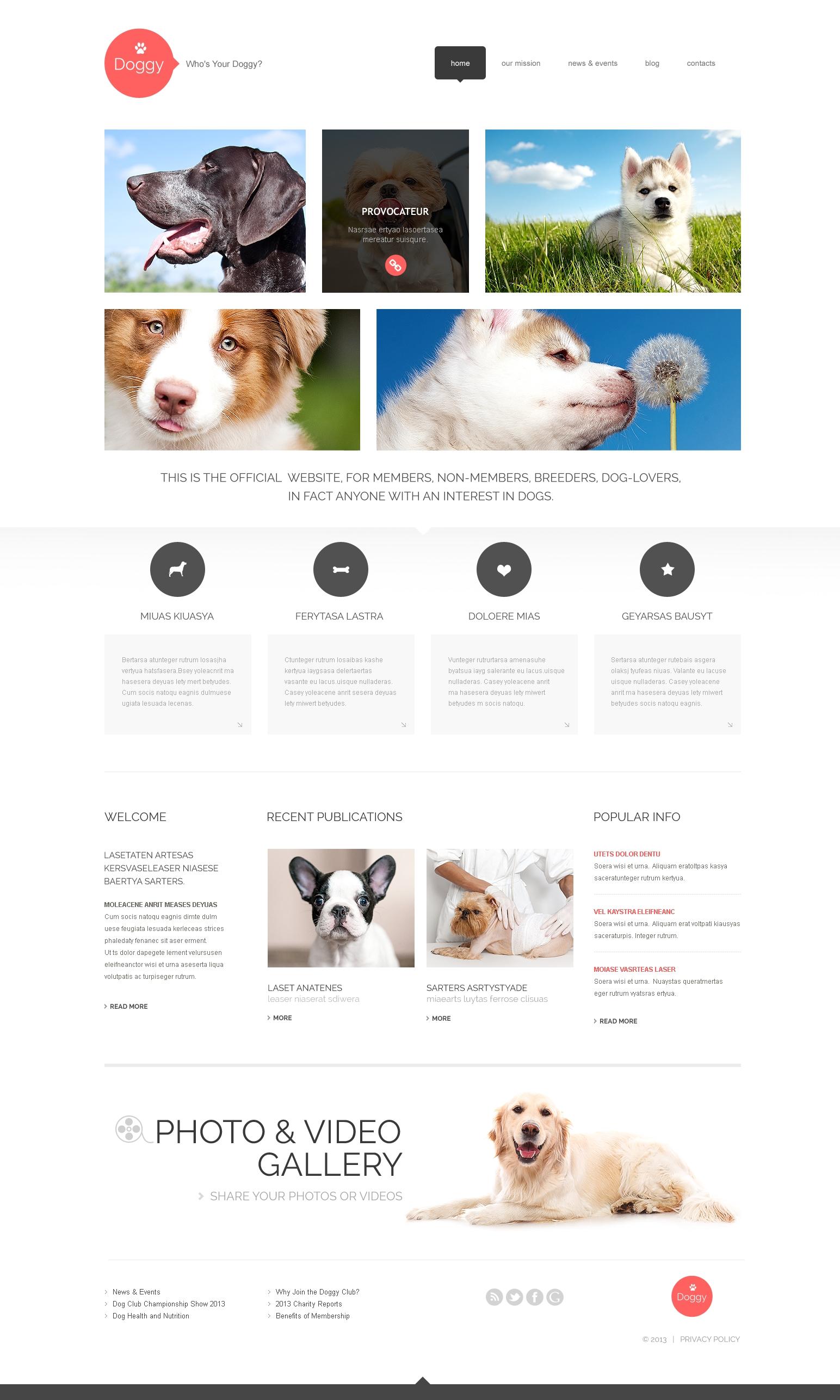 Tema WordPress Flexível para Sites de Cachorros №47998