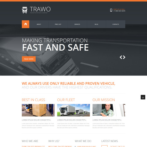 Trawo - Joomla! Template based on Bootstrap