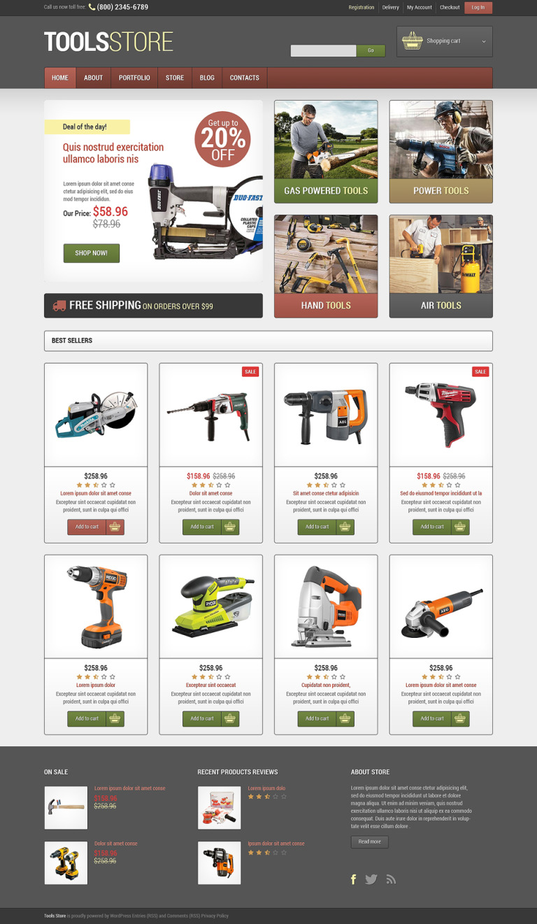 Tools & Equipment Responsive WooCommerce Theme New Screenshots BIG