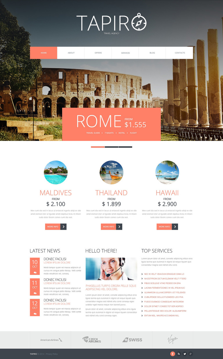 Travel Website Joomla Template New Screenshots BIG