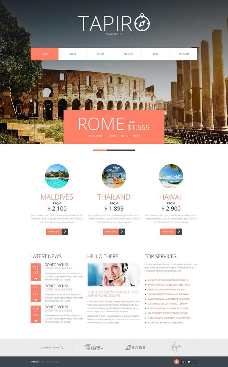 Travel Website Joomla Template New Screenshots BIG
