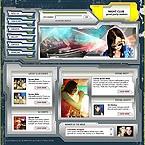 Kit graphique introduction flash (header) 4855 nuit club musique