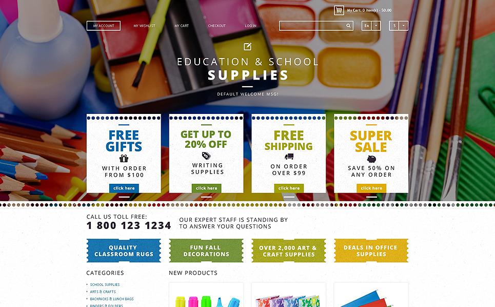 Responsywny szablon Magento #48003 na temat: materiały biurowe New Screenshots BIG