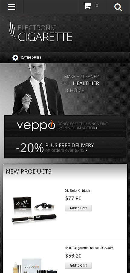 Magento Theme/Template 48008 Main Page Screenshot