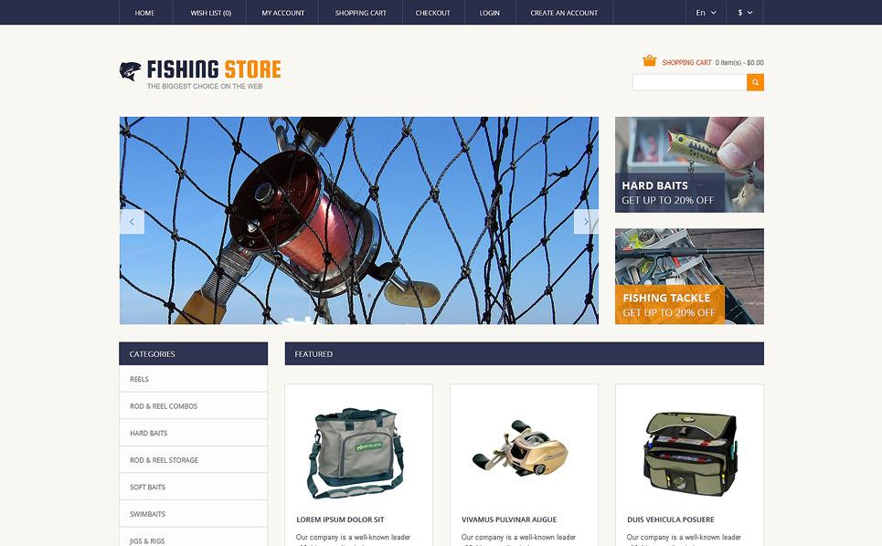 Адаптивний OpenCart шаблон на тему рибалка New Screenshots BIG