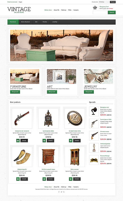 ADOBE Photoshop Template 48013 Home Page Screenshot