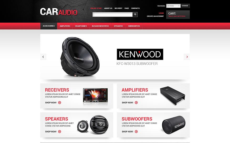 Szablon VirtueMart #48014 na temat: audio samochodowe New Screenshots BIG