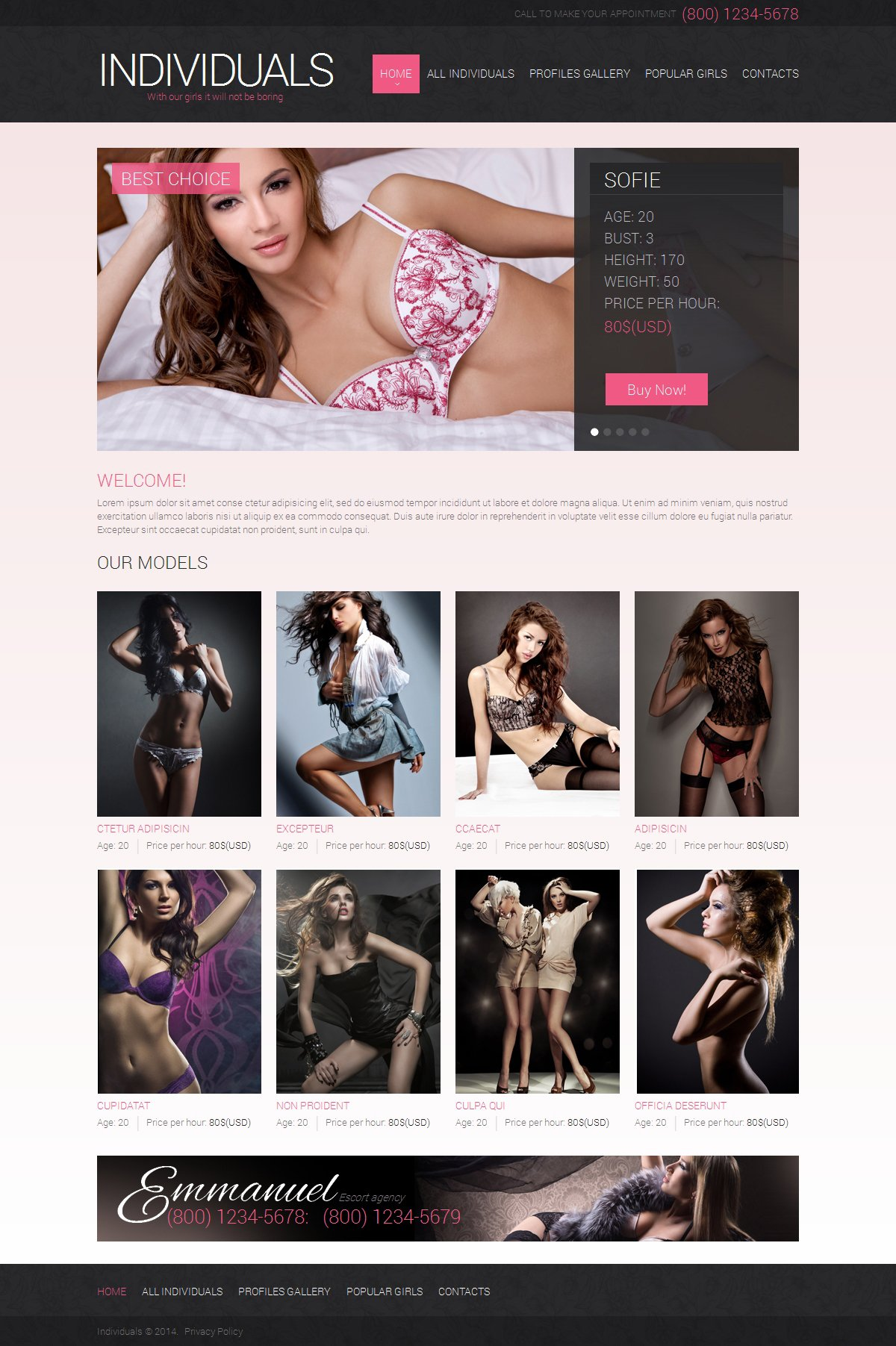 Adult Website Templates 84