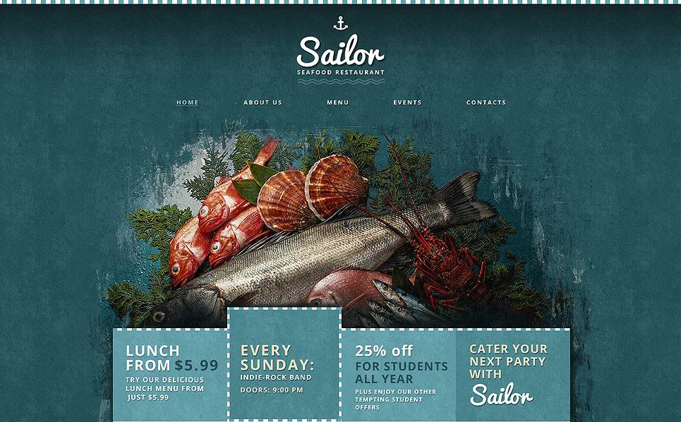 Reszponzív Tenger gyümölcseit kínáló éttermek  Weboldal sablon New Screenshots BIG
