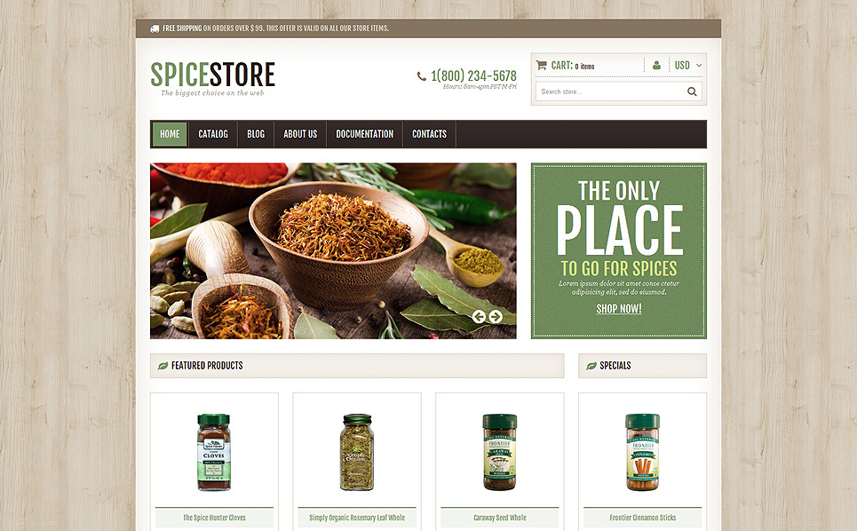 Responsives Shopify Theme für Gewürz-Shop  New Screenshots BIG