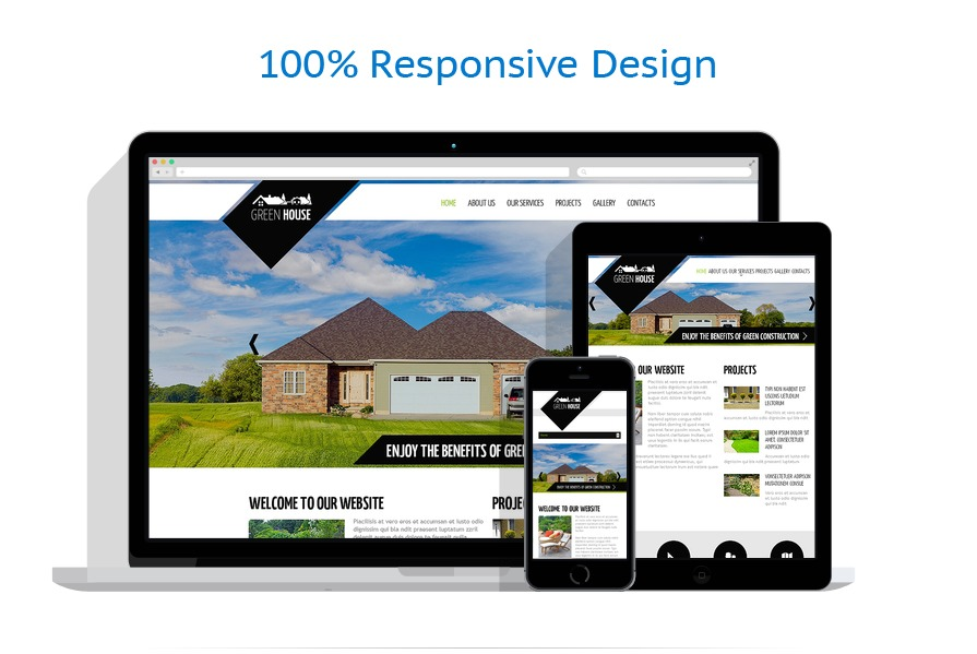 Exterior design website template 48034 for Exterior design website templates