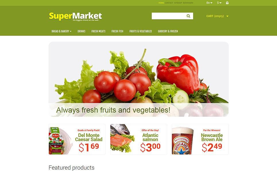 Reszponzív Élelmiszerboltok PrestaShop sablon New Screenshots BIG