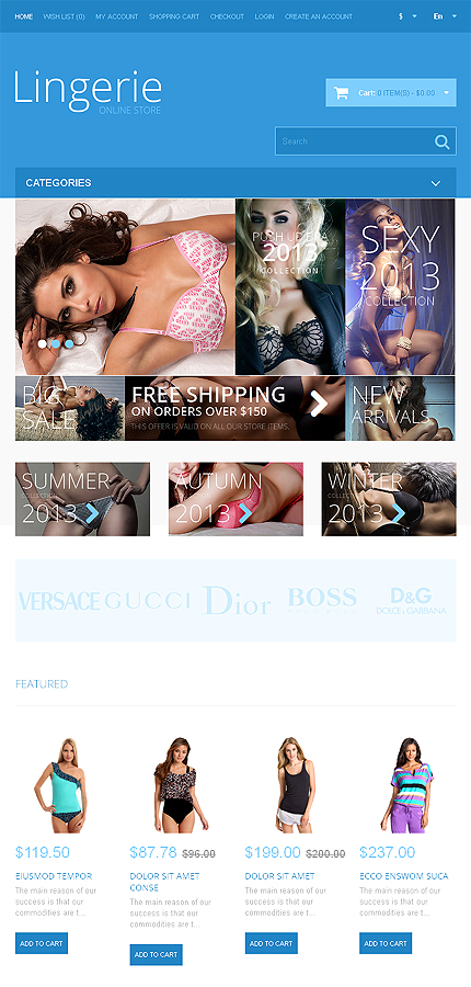 ADOBE Photoshop Template 48043 Home Page Screenshot