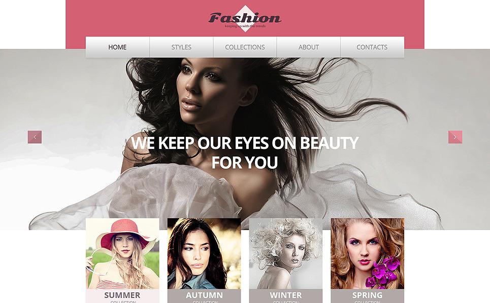 Responzivní Šablona webových stránek na téma Prodejna oblečení New Screenshots BIG