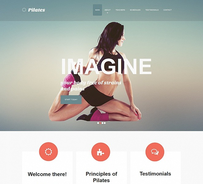 Moto CMS HTML Vorlage für Fitness  New Screenshots BIG