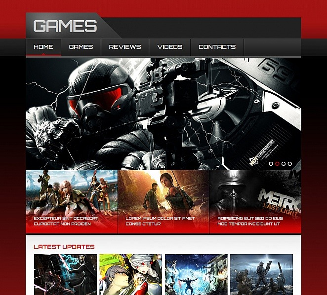 Szablon Moto CMS HTML #48056 na temat: gry New Screenshots BIG