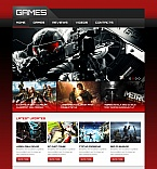 Games Moto CMS HTML  Template 48056