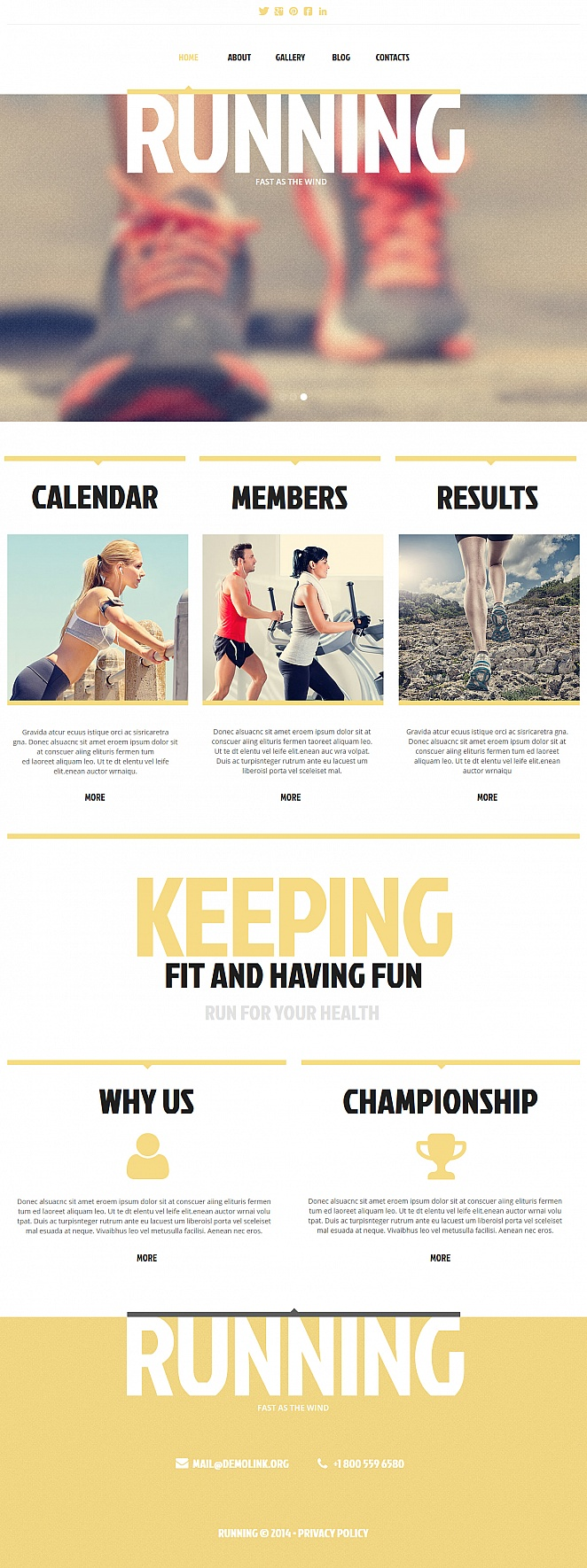 Running Website Template with a Fullwidth Header Image - image